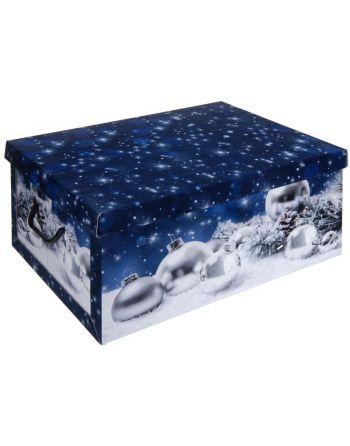 Opbergdoos kerst blauw