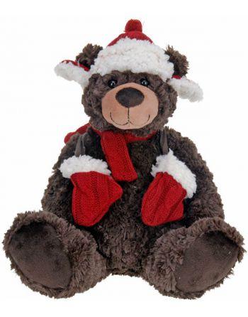 Pluche kerstbeer - 30cm