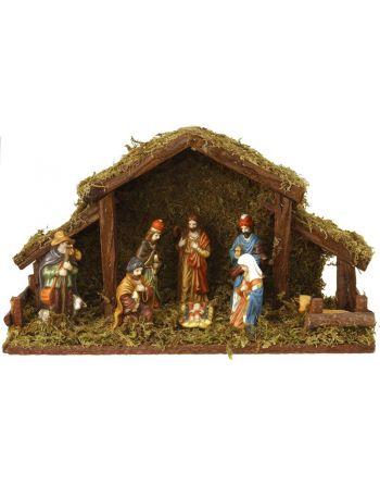 Kerststal 8 figuren, met...