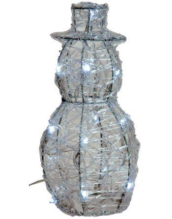 Acryl sneeuwman 25cm met 16...