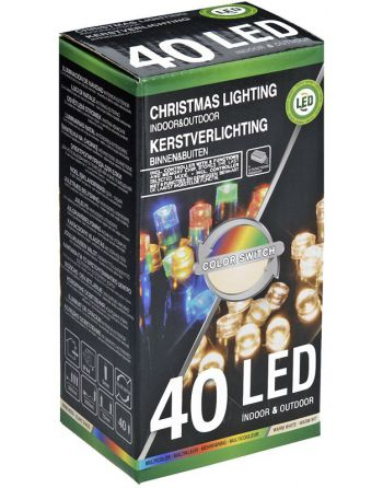 Verlichting 40 LED's  Color...