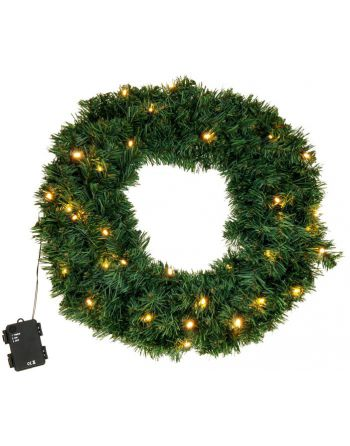 Kerstkrans met LED...