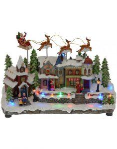 Kerstdorp item met bewegende arrenslee Christmas Place