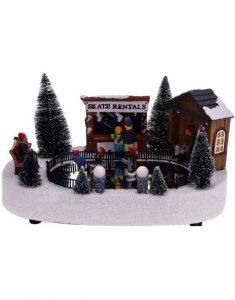 Kerstdorp schaatsbaan met beweging Christmas Place